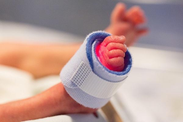 A hospitalized newborn