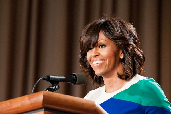Michelle Obama at a conference