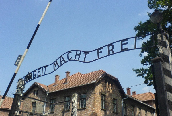 Entrance to Nazi German concentration camp Auschwitz