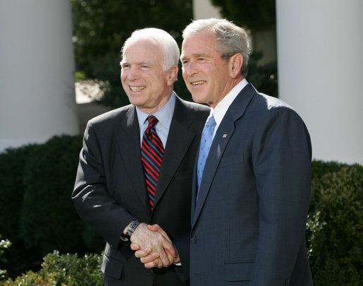 GOP Senator John McCain and George W. Bush