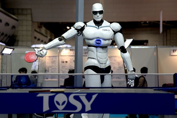 Humanoid Robot Playing Ping Ping