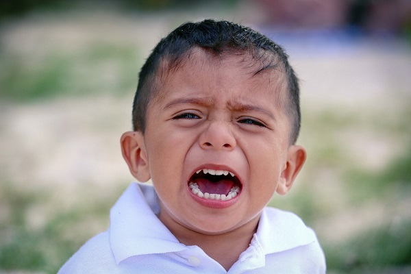 Crying Mexican child